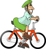 bike rider poster