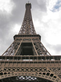 eiffel tower perspective view poster