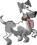 prancing dog poster