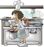 female chef poster
