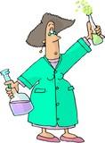 female chemist poster