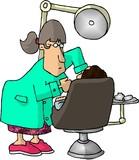 female dentist poster