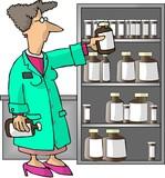 female pharmacist poster