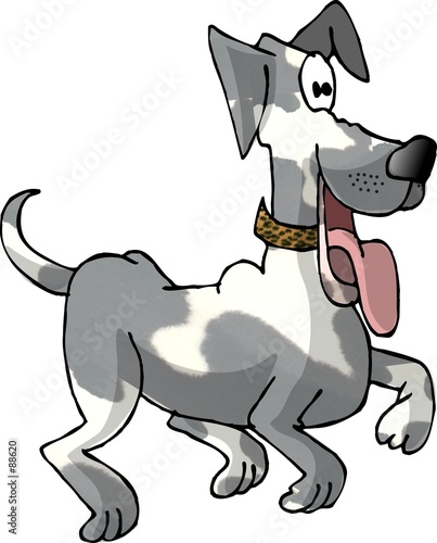 poster of prancing dog