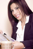 smiling businesswoman poster