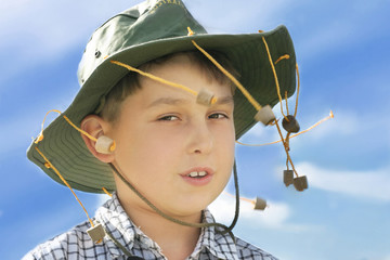 boy in cork hat