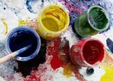 pots de peinture poster