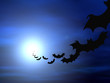 roleta: halloween background, flying bats