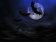 roleta: halloween background, flying bats