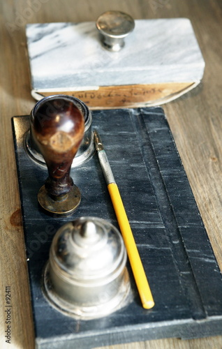 paper weight and inkstand 2
