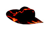 hot cowboy hat poster