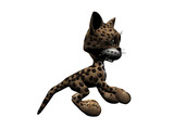 kitty leopard poster