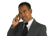business man on phone