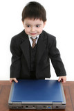 adorable little businessman poster