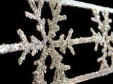 snowflake garland poster