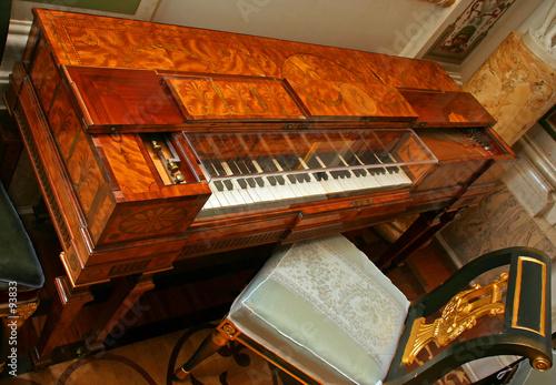 Leinwandbild Motiv old clavecin (harpsichord)