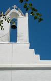 church steeple greece poster