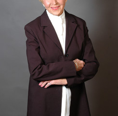woman in business attire