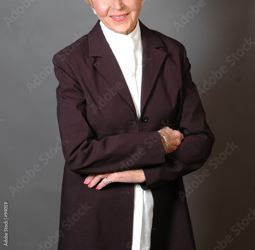 woman in business attire