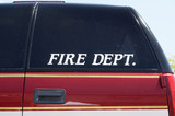 fire department vehicle poster