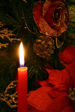 one candlelight  and one christmas  wreath poster