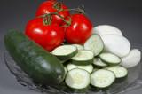 sliced vegetables poster