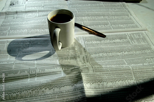poster of coffee and stock chart 4
