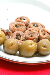 anchovies and olives