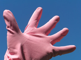 pink rubber glove – scary