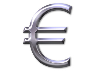 euro symbol with silver bevel