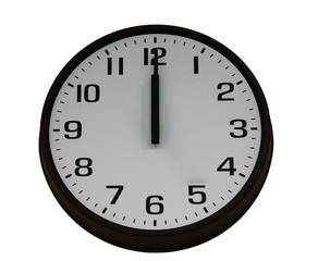 midnight clock isolated