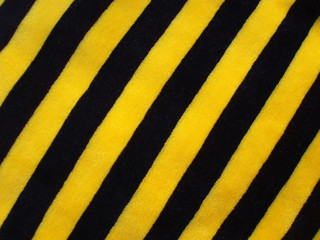 fabric of black and yellow velvet