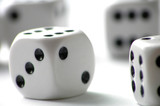 dice on white table - 98434