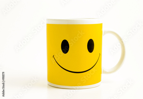 mug with happy face
