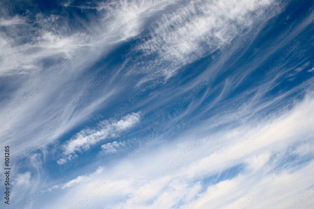 niebieski zimny chmura pierzasta - powiększenie