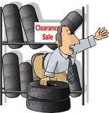 tire salesman poster