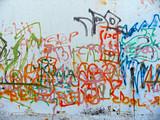 graffiti sprayed on a wall poster