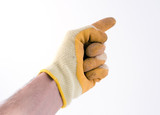 gloved hand poster