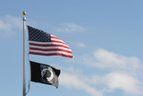 american and pow mia flags poster