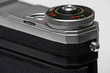 old range-finder soviet camera close-up