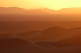 sunset over the sahara desert poster