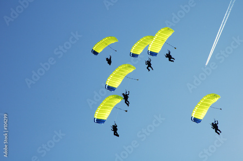 Fotobehang Luchtsport skydiving