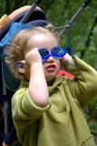 the kid in dark glasses poster