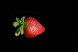 single strawberry poster