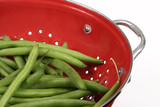 beans in a colander - close poster