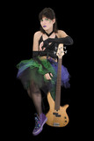 bass babe with fretless poster