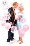 young blond couple in love poster