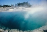 yellowstone geothermal pool poster