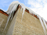 big icicles on the roof poster