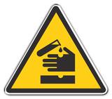 warning acid poster